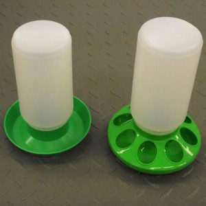 Water containers for chickens